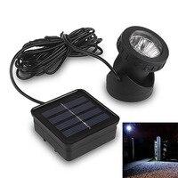 6 LED Waterproof Underwater Solar Power Spot Light Outdoor Garden Lawn Lamp