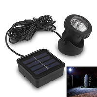 6 LED Waterproof Underwater Solar Power Spot Light Outdoor Garden Lawn Lamp