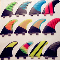 FCS G5 Surfing Fins For Surfing With Iberglass Honey Comb Carbon Tri Set