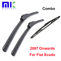 Kit Silicone Rubber Front And Rear Wiper Blade For Fiat Scudo 2007 Onwards Windscreen Wiper Car