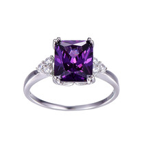 Vintage Jewelry 5.25ct Amethyst 925 Sterling Silver Ring