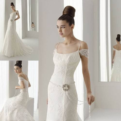 Free shipping sundayfrog mermaid lace off shoulder court for Lace off the shoulder wedding dresses