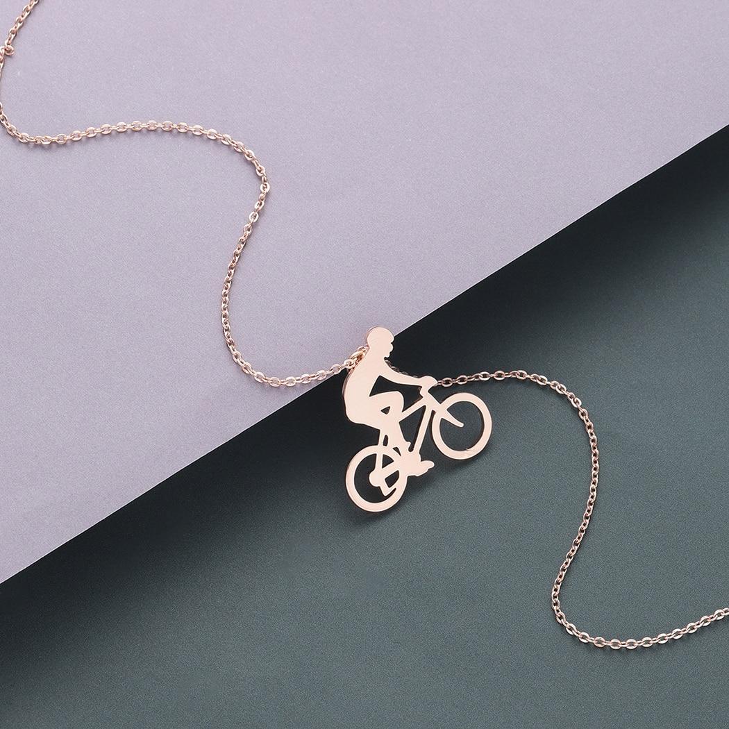 Todorova montar en bicicleta ciclismo hombres collar figura bicicleta collar de motorista joyas deportivas regalo hombre