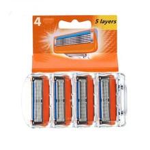 Shaver-Suit Razor-Blade Cassette Fusion-Proglide Gillettee for Men 4pcs/Lot
