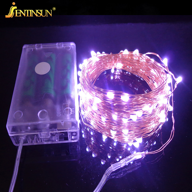 5m Battery Led Light String Copper Wire Garden Decorative Christmas Waterproof Lights Fairy Valentines Wedding Decoration