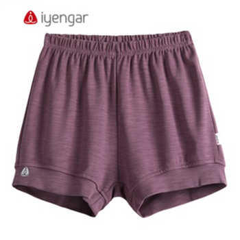 Good Quality Summer 95% Cotton Iyengar Shorts New Men Women Professional Purple