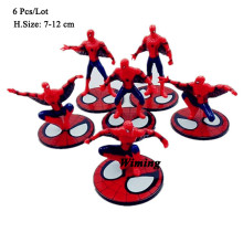 cupcake toppers spiderman birthday gifts friend kids toy spider man cake decorating supplies topper