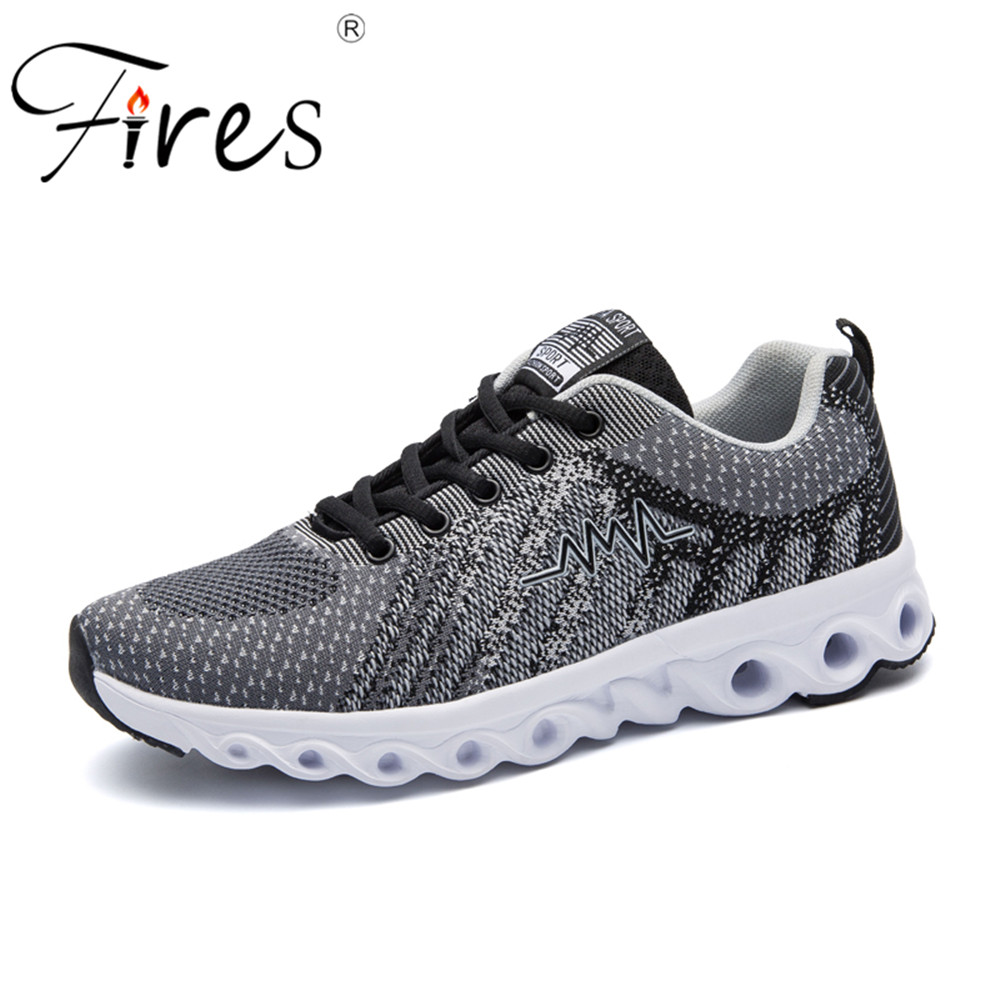 Fires Men Running Sneakers Summer Mesh Sport Shoes Spring Outdoor Walking Shoes Running Shoes Mens Vulcanized Shoes