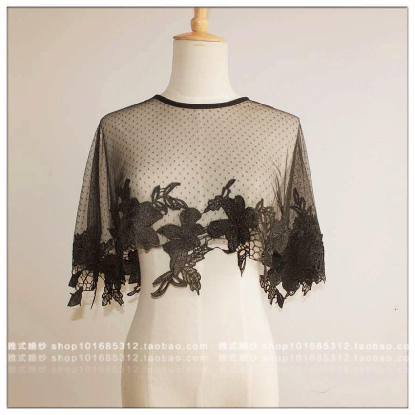 Lace Shawl Bolero Femme Topper Burgundy Jacket Cape Coat Bride Dress Lace Accessories Bolero Cape
