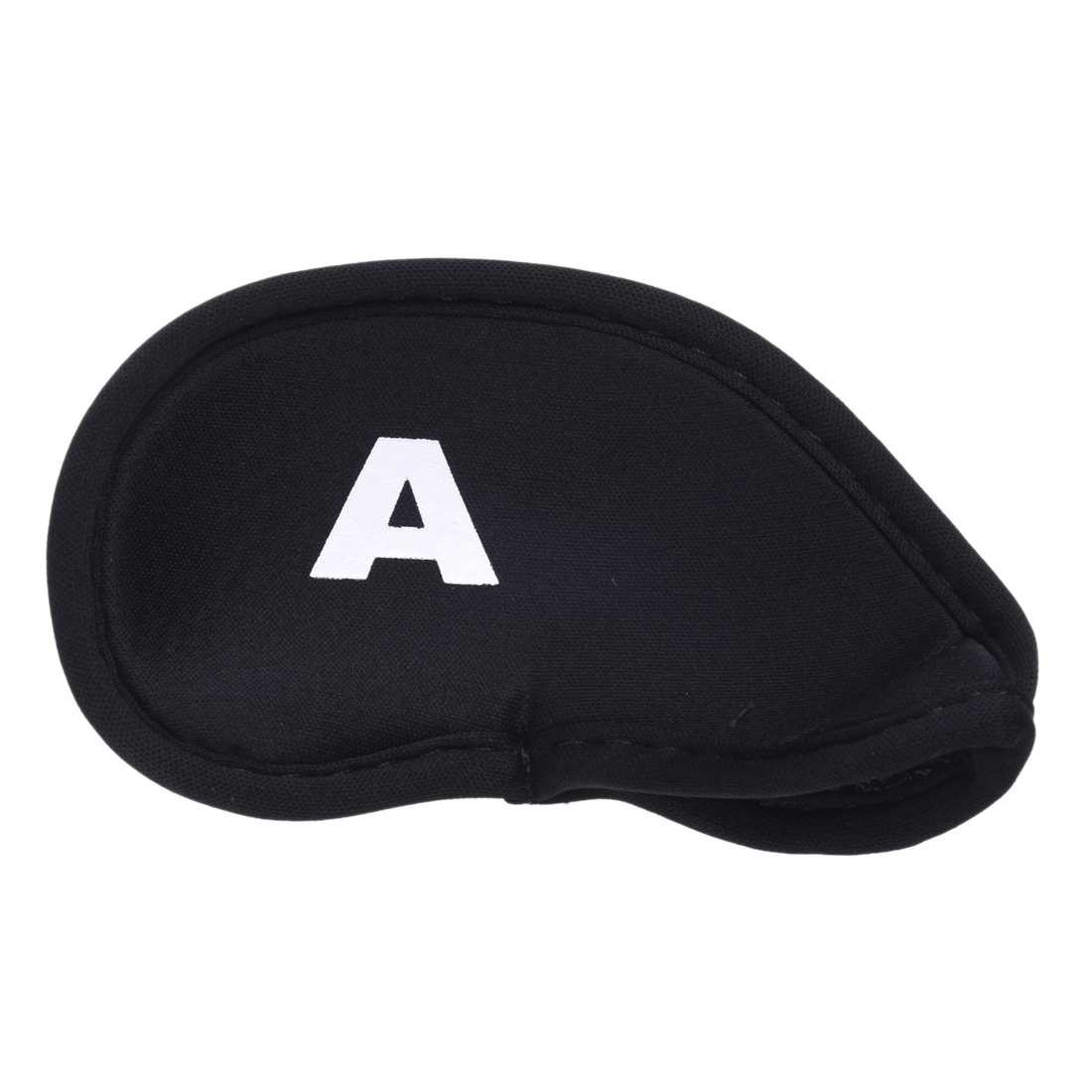 10pcs Golf Head Cover Club Iron Putter Head Protector Set Neoprene Black