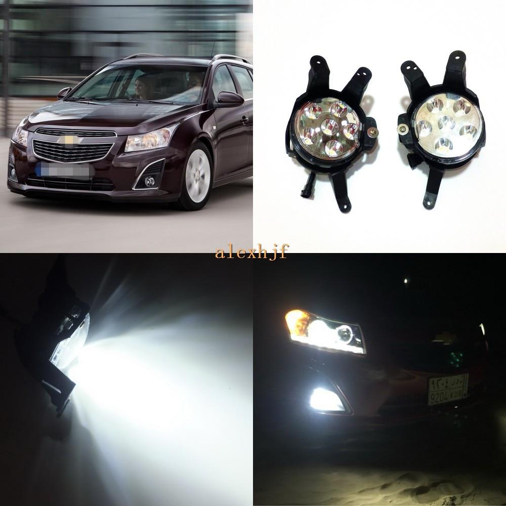 July King 18W 6LEDs 6500K LED Daytime Running Lights LED Fog Lamp Case for Chevrolet Cruze 2009~15, Over 1260LM
