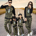Korean autumn 2017 new children 's wear sweatshirts camouflage sports set mother and daughter t-shirt family look