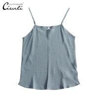 CISULI 100% Silk Camisole With Adjustable Strap Matt Color Crepe Silk Fabric Natural Mulberry Silk Update New Desigual