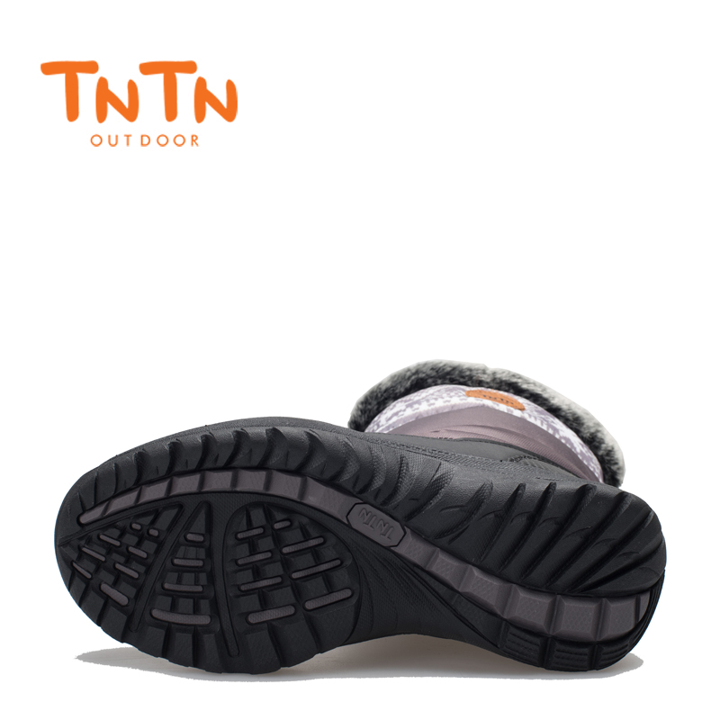 TNTN 2017 Winter Outdoor Boots Feathers Waterproof Hiking Boots Snow Womens Shoes Womens Fleece shoes Warm