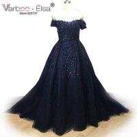 VARBOO ELSA 2017 Hot Sale Saudi Arabic Evening Gowns Appliques Beaded Black Evening Dresses Long Sweetheart