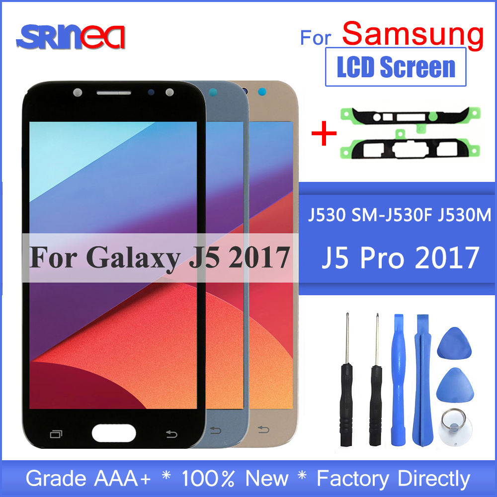 LCD For Samsung Galaxy J5 2017 j530 j530f LCD Display and Touch Screen Digitizer Assembly Brightness Adjustment-in Mobile Phone LCD Screens from Cellphones & Telecommunications