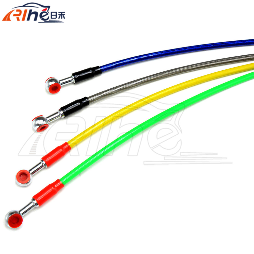 90cm motorcycle accessories braided steel hydraulic reinforced brake clutch hose line brake oil hose pipe 4 colors optional red 1500mm 2000mm 2300mm motorcycle brake pipe tubing braided steel hydraulic reinforced brake or clutch oil hose line pipe