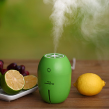 New 180ML Lemon Humidifier Mini USB Portable Ultrasonic Humidifier DC 5V LED Light Air Purifier Mist Maker For Home Office Car