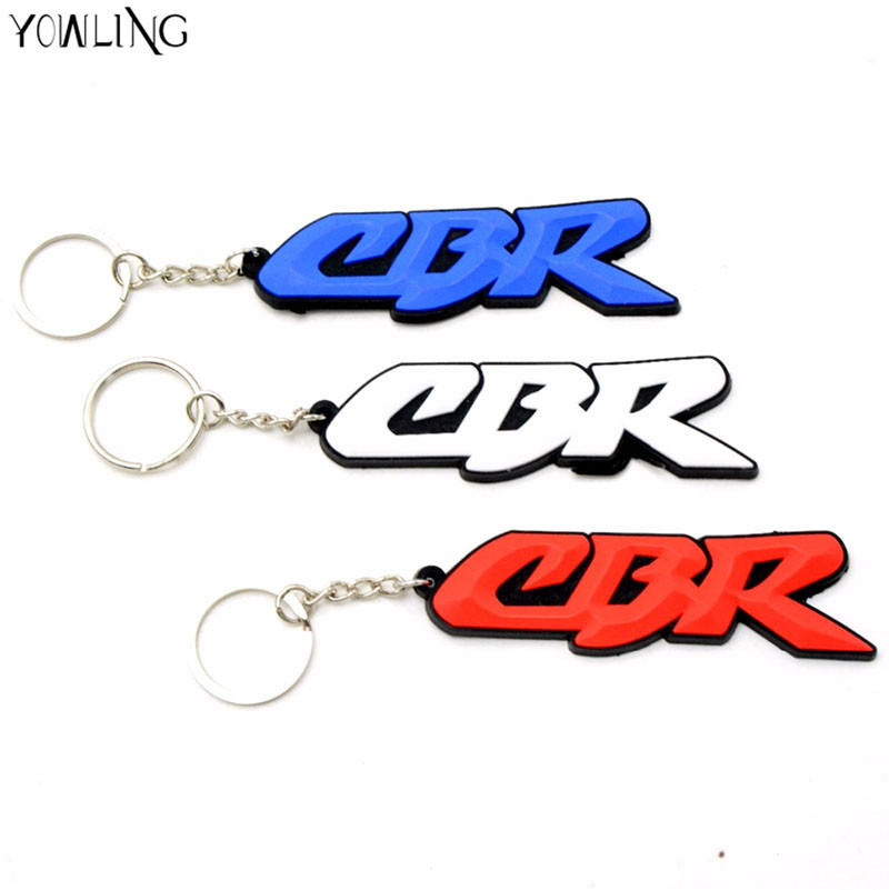 3D motorbike Key Ring white Motorcycle accessories key chain Rubber Keychain For HONDA CBR 400 cbr600 CBR900RR CBR250R CBR1000RR велосипед stels voyager v 24 2016