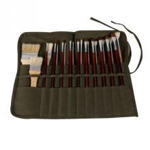 22 сетчатый зелено-армейский брезентовый пенал для карандашей, чехол для ручек, кисть для хранения краски, канцелярские принадлежности, сумка для красок, школьные офисные принадлежности