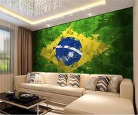 3D Foto high-end-tapeten Benutzerdefinierte Zimmer vlies Wandbild Graffiti Flagge Brasilien HD Foto Malerei Sofa TV hintergrund Wandtapete