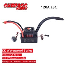 SURPASSHOBBY KK Waterproof 120A ESC Electric Speed Controller for RC 1/8 RC Car 4076 4068 Brushless Motor