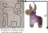 Christmas deer die cut accessories wooden die Regola Acciaio Die Misura ,// MY