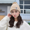 Casual Cotton Acrylic Rushed Solid Adult New Harajuku Fashion Gorro Winter Knitted Hat Bonnet Cloth Warm Hats For Women Beanies