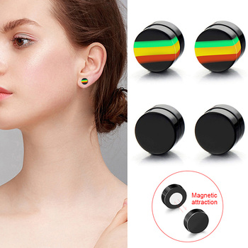 Newly 1 Pair Man Women Magnetic Earrings No Piercing Simple Acrylic Round Earring m99.jpg 350x350 - Newly 1 Pair Man Women Magnetic Earrings No Piercing Simple Acrylic Round Earring m99