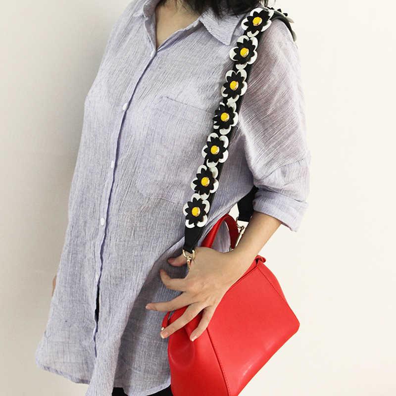 Широкая кожаная Цветочная сумка через плечо с ремешком с заклепками и лепестками на ремне, металлические кошельки с застежками, женские сумки с панелями, аксессуары для ремня