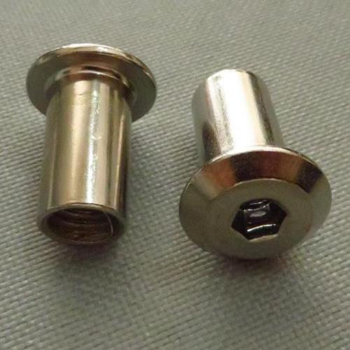 M6 Steel Hex Drive Furniture Connector Cap Nuts Fixings