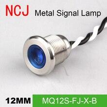 NCJ 8мм Индикатор светодиодный LED индикатор Сигнальная лампа Контрольная лампа Светодиодный индикатор Лодка Автомобиль Панель 3В 6В 12В 24В 110В 220В