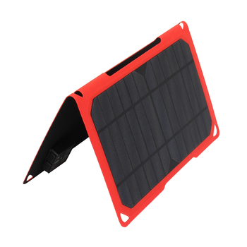 PowerGreen Foldable Solar Charger 14W Mono ETFE Solar Panel External Smartphone Power Bank for Outdoor