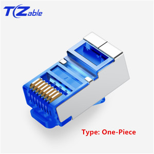 """Image 2 - Cat6 RJ45 Connector 8P8C 6U"""" Gold Plated Modular Ethernet Cable Head Crimp Network RJ 45 Plug For UTP FTP SFTP 1.0mm Wire"""