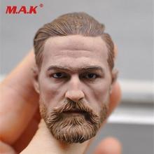 new KM16-91 European male head sculpt model headplay no neck 1/6 scale fit 12 action figure body figure цена