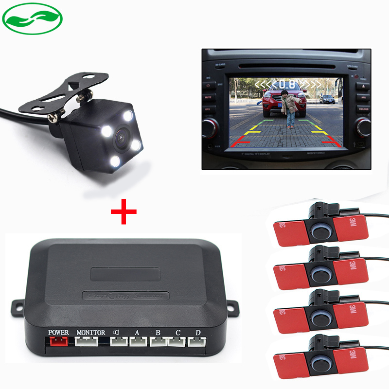 16MM Original Flat Sensors Car Video Parking Sensor With LED Rear View Camera Fot Auto Parking Monitor DVD Player