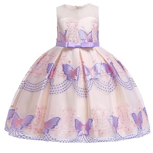 Image 2 - Butterfly embroidery flower girl princess party dresses for weddings kids girl clothes children clothing baby costume L5088