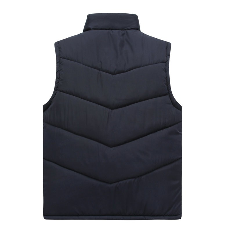 Spring Autumn Stylish Casual Mens Puffer Vest Coats Man Red Dark Blue Gray Black Warm Wadded Sleeveless Jackets Male Stand Collat Waistcoat (3)