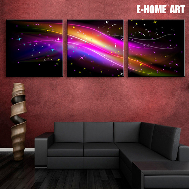 High Quality Stretched Canvas Prints Gorgeous Color LED Flashing Optical Fiber Print LED  Wall Art LED Decorations