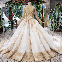 4f4e5ca393f17 Buy long sleeve high neck wedding dress and get free shipping on ...