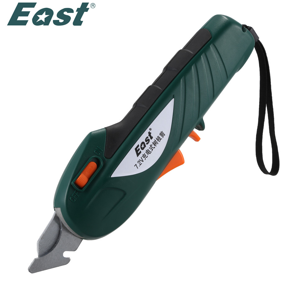 EAST ET1002 Power Tools 7.2V Li-ion Battery Cordless Secateurs Branch Cutter Electric Fruit Pruning Tool Shear to Ol Fruit