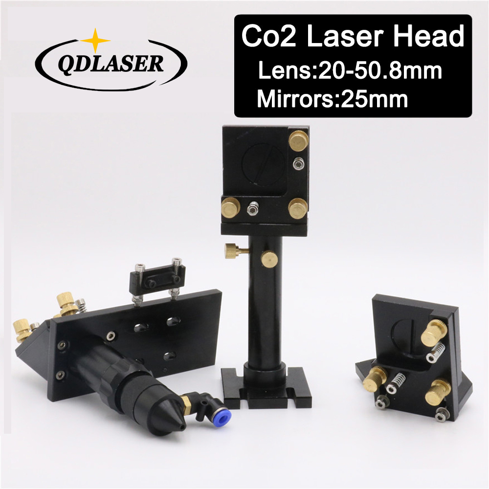 Whole Set CO2 Laser Head Mirror Lens Integrative Mount Houlder for Focus Lens 20-50.8mm and Mirror 25mm co2 laser head mirror and lens integrative mount laser cutting engraving