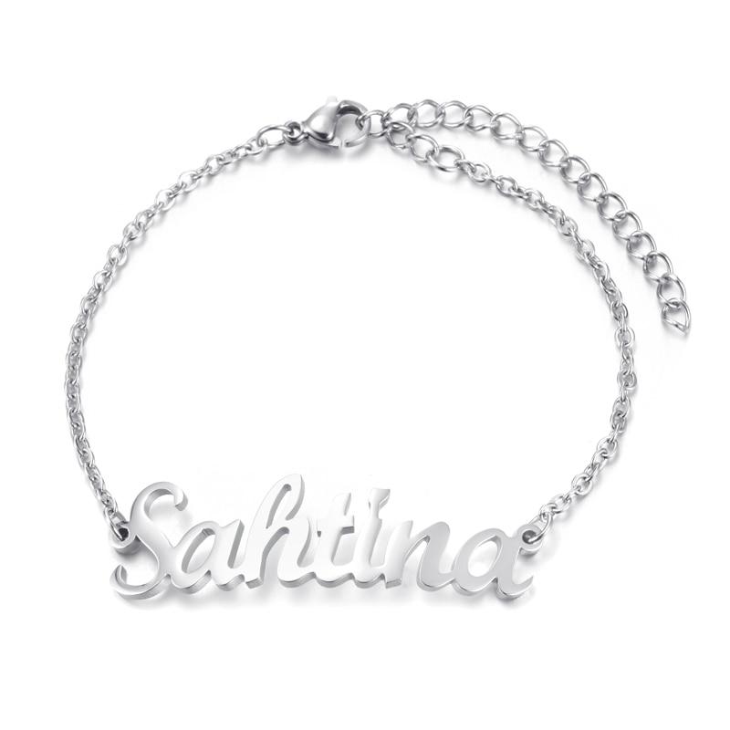 Custom Personalized Name Bracelet Gold Color Customized