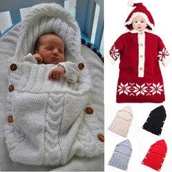Bebê swaddle envoltório de lã quente crochê de malha recém-nascido infantil saco de dormir cobertor de swaddling do bebê sacos de dormir cobertor do bebê recém-nascido