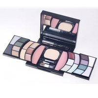 JS 25 Color All In One Makeup Kit Color Combination Eyeshadow With Case Puff Mirror And