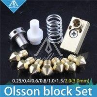 Atualização impressora 3D 2 + UM2 Estendido + Olsson bloco do bico hotend Ultimaker kit para 1.75/3 filamento três milímetros aquecedor|hotend kit|olsson block|nozzle hotend -