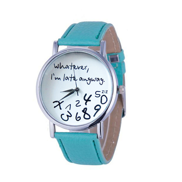 """""""Wathever I am Late Anyway"""" Watches"""
