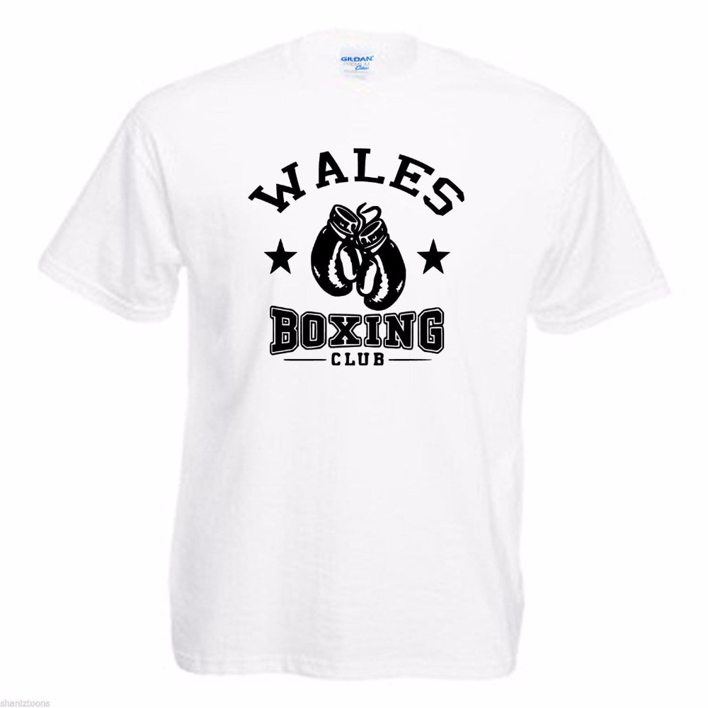 New T Shirts Unisex Funny Tops Tee Basic Models Wales Boxer Club Novelty Cool Tops Men Short Sleeve T-Shirt