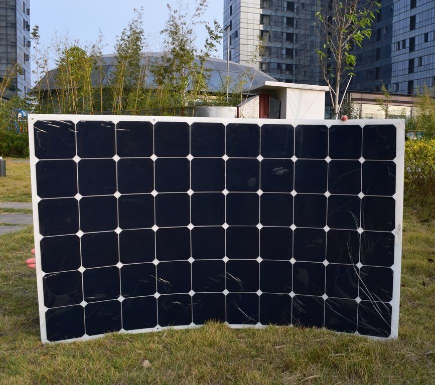 180W semi-flexible solar back contact solar panel with High efficiency solar cell,the solar module  charging the 12V battery