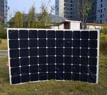 180W semi flexible solar back contact solar panel with High efficiency solar cell the solar module
